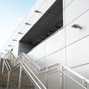 revestimientos de aluminio compuesto paneles pulidos